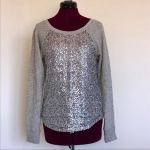Express Silver Sequin Sweater